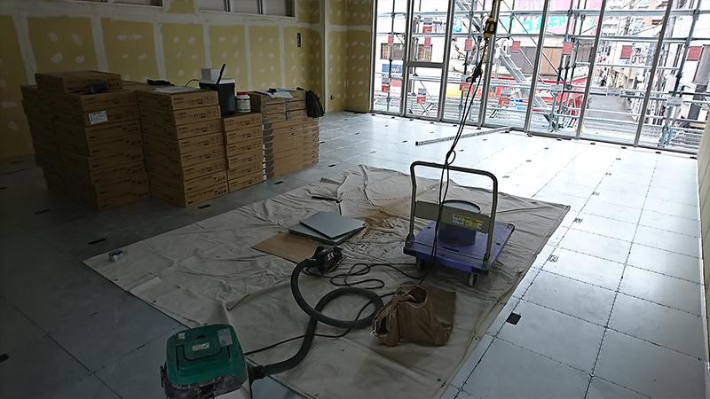 新規開設塾のOAフロア工事