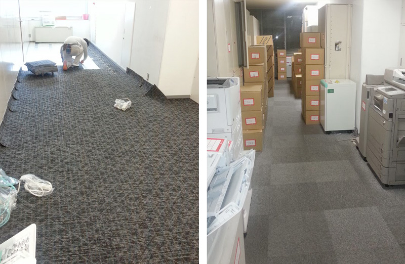 オフィスのカーペットの張り替え