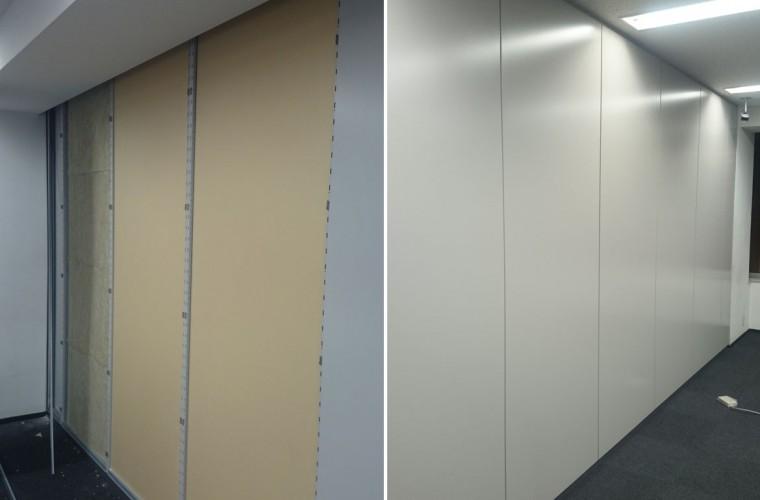 会議室は遮音効果の高い壁に